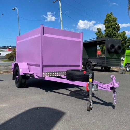 7x4 Custom Painted Enclosed Trailer