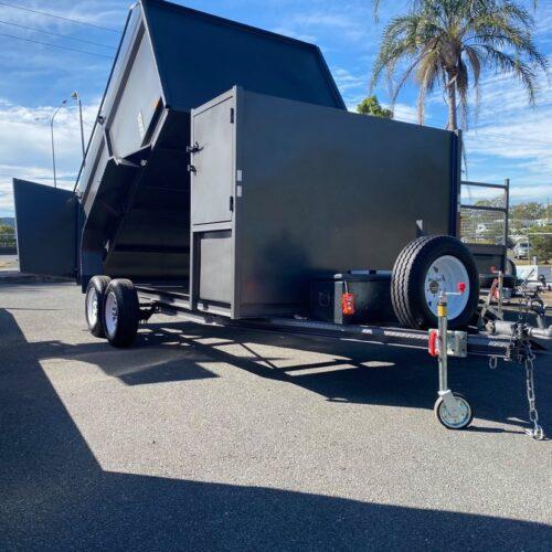 Hydraulic Tipping Mower Trailer 1