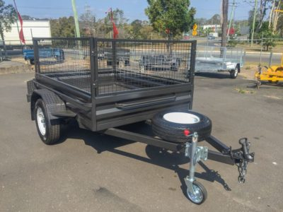 8x5 Caged Heavy Duty Box Trailer