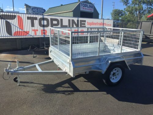 8x5 Galvanised Box Trailer