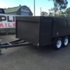 8x5 Front Enclosed Box Lawn Mower Trailer