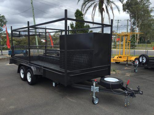 custom concrete trailer