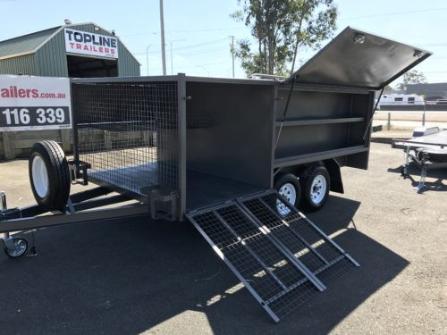 8x5 Mesh Box and Ramps Lawn Mower Trailer