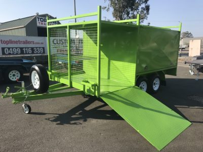 8x5 Front Mesh Box Lawn Mower Trailer