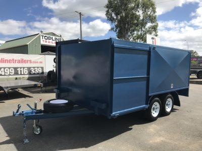 8x5 Front Double Enclosed Push Lawn Mower Trailer