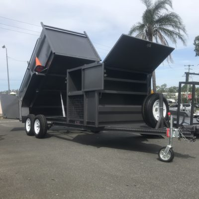 tipping lawn mower trailer