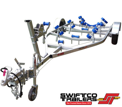 Swiftco 5 Metre Boat Trailer - Wobble Rollers