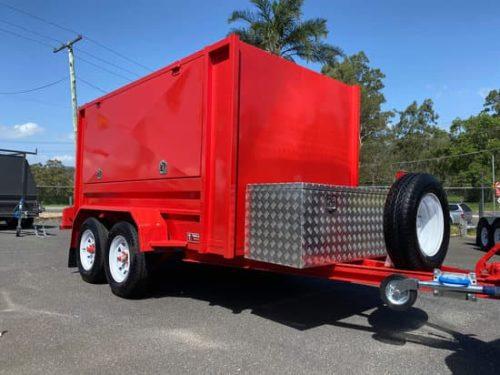 Custom Red Enclosed Trailer